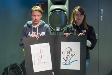 Siika-logon taiteilijat: Onni Ojala ja Marianne Kammonen.